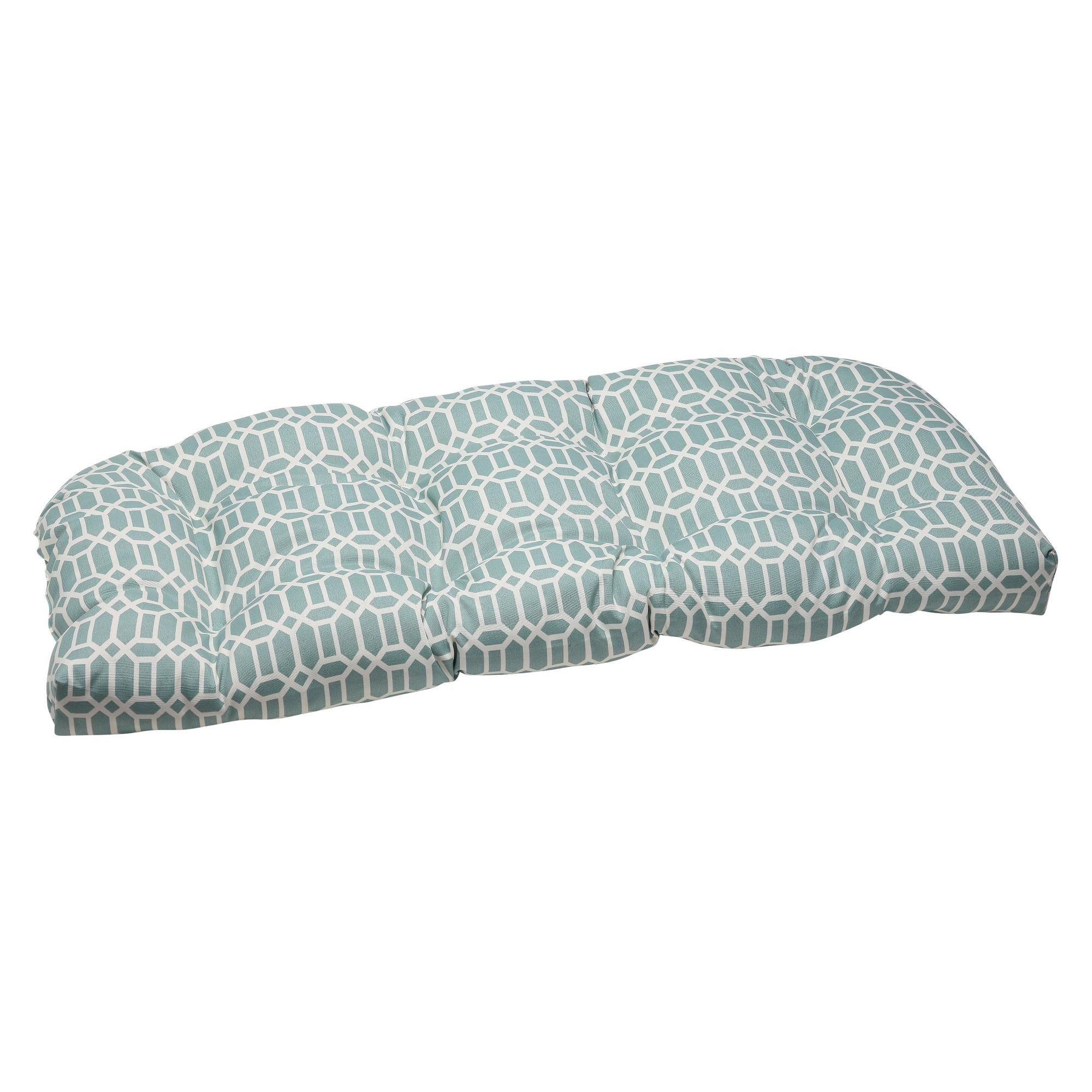 Pillow Perfect Outdoor Wicker Loveseat Cushion Rhodes