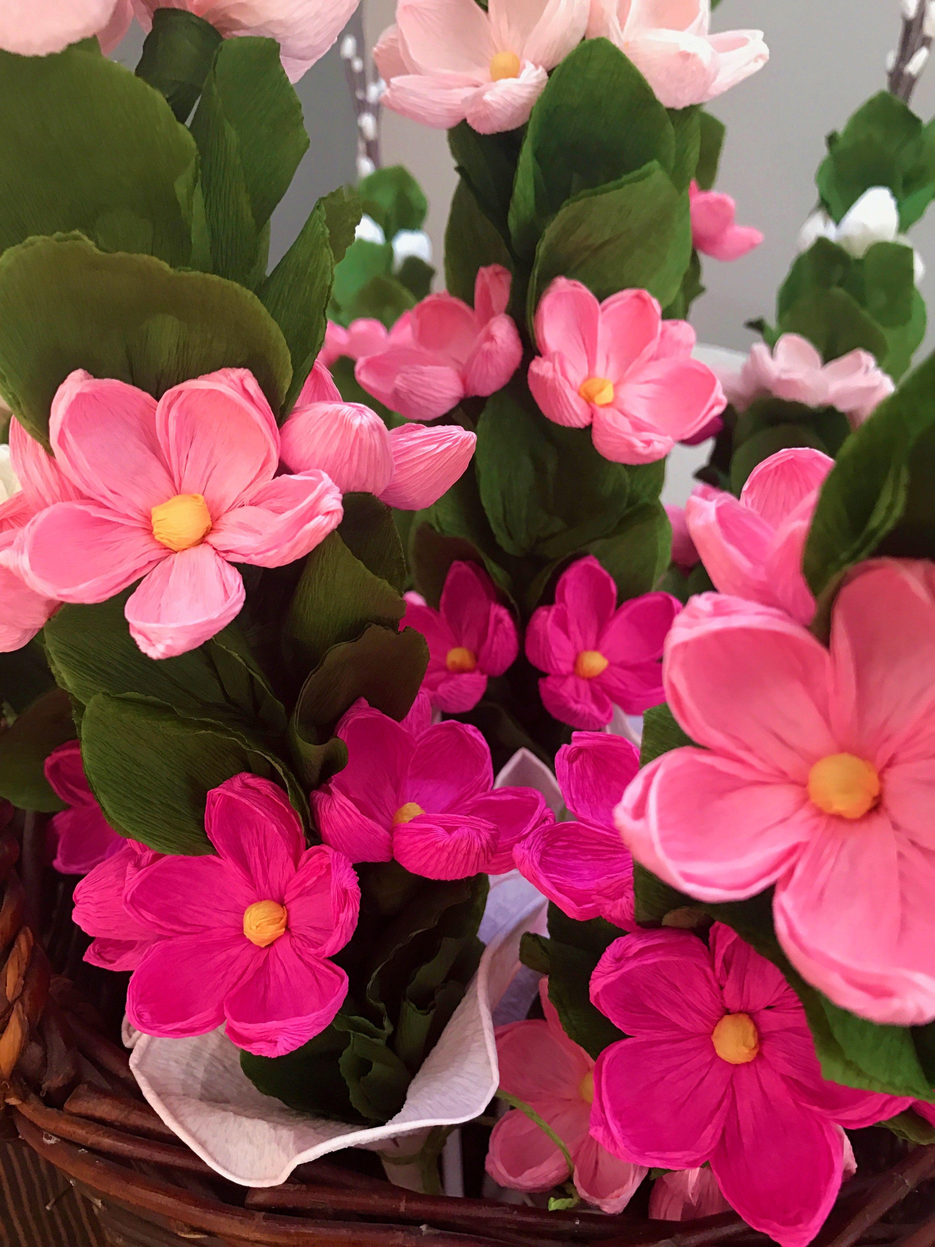 Ludowe Palmy Wielkanocne Z Bibuly Paper Flowers Paper Flowers Diy Easter Diy