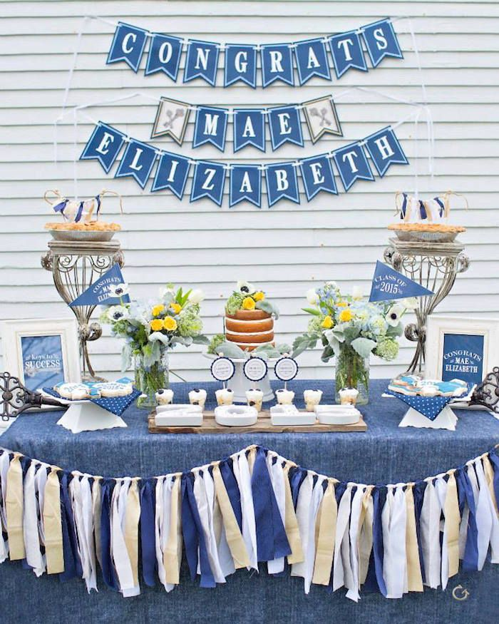 Keys To Success Denim Graduation Party   Graduation party ...