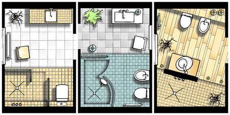 kleine Bäder, Grundrisse, Badgestaltung, Bäder mit Dusche, Foto ... | {Grundriss badezimmer mit begehbarer dusche 78}