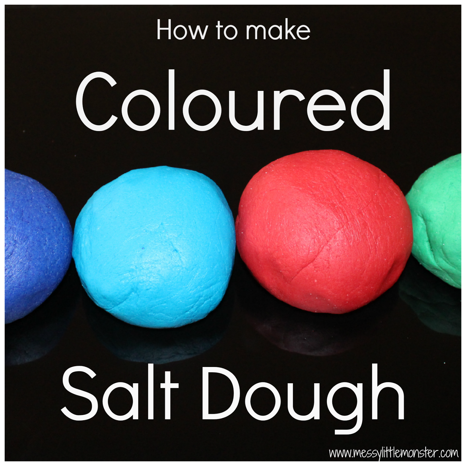 How to make coloured salt dough