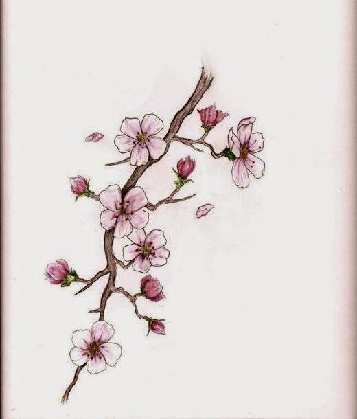 Resultado de imagen para dibujos cerezos japoneses   Flores De ...