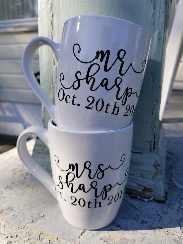 Custom coffee mugs from November & Cate on Etsy. www.etsy