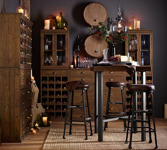 Griffin Reclaimed Wood Bar Height Table Wood Bar Table Wood Bars Reclaimed Wood Bars