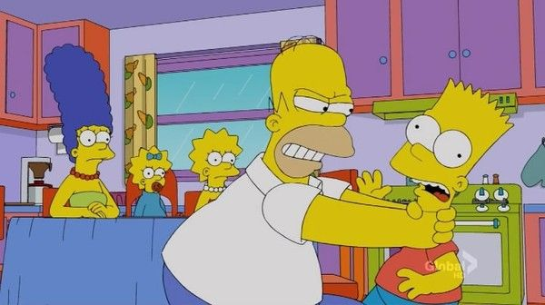 Create Meme Bart Hits Homer With A Chair In 7 Language Bart