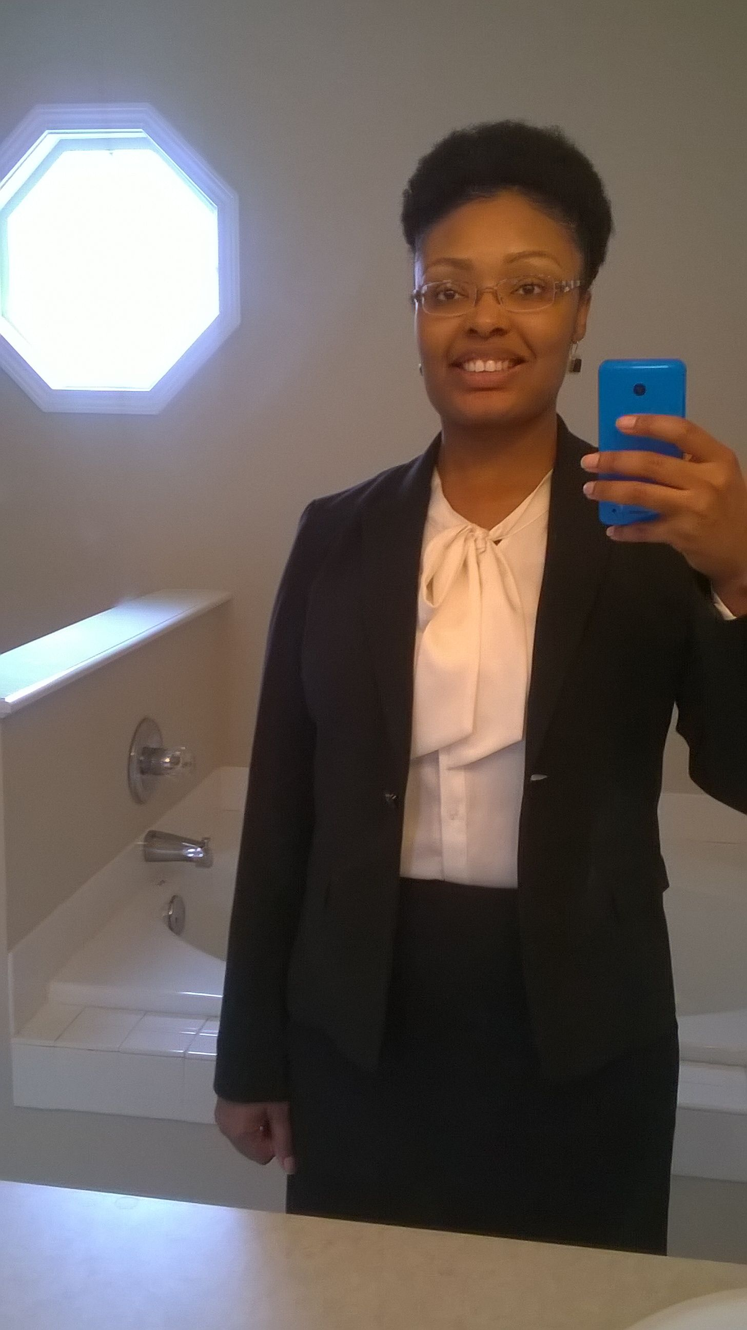 I wore a puff to a job interview it looked nice my natural hair