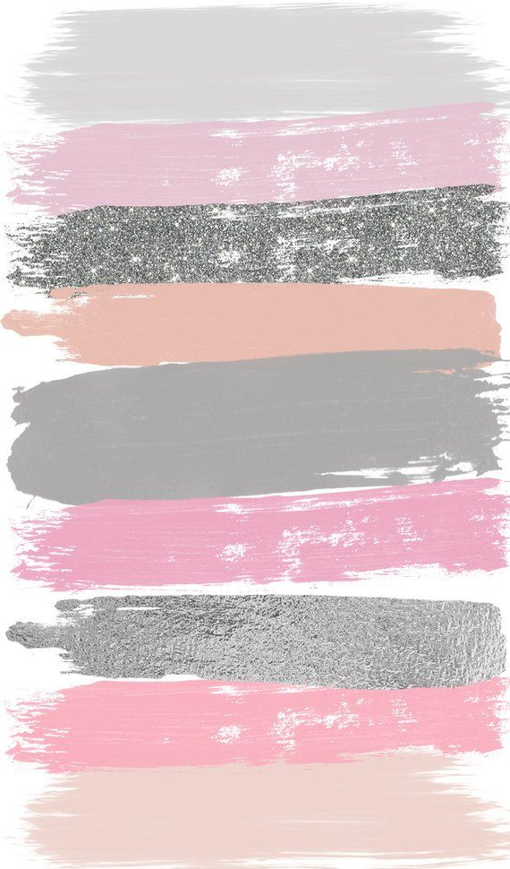 Pink Gray Brush Strokes Clip Art #27 Hand Painted Pink Glitter Foil Confetti Clipart   Graphic Eleme