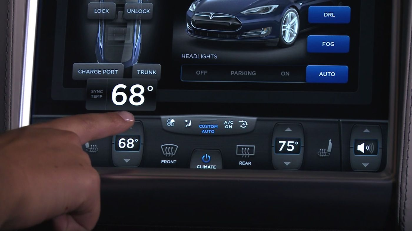 Tesla S In Car Touch Panel