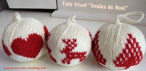 Tricoter des boules de Noël, modèles et tutos #bouledenoel