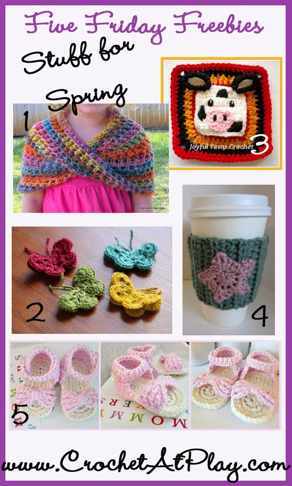 Five free crochet patterns | Craft | Pinterest | Tejido, Flores ...