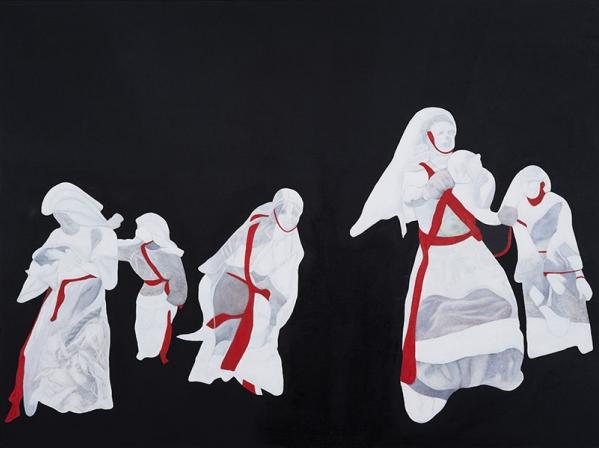 Pauline Marcelle, Bend Down Boutique 52, 120 x 160 cm, //2011 Oil/Canvas