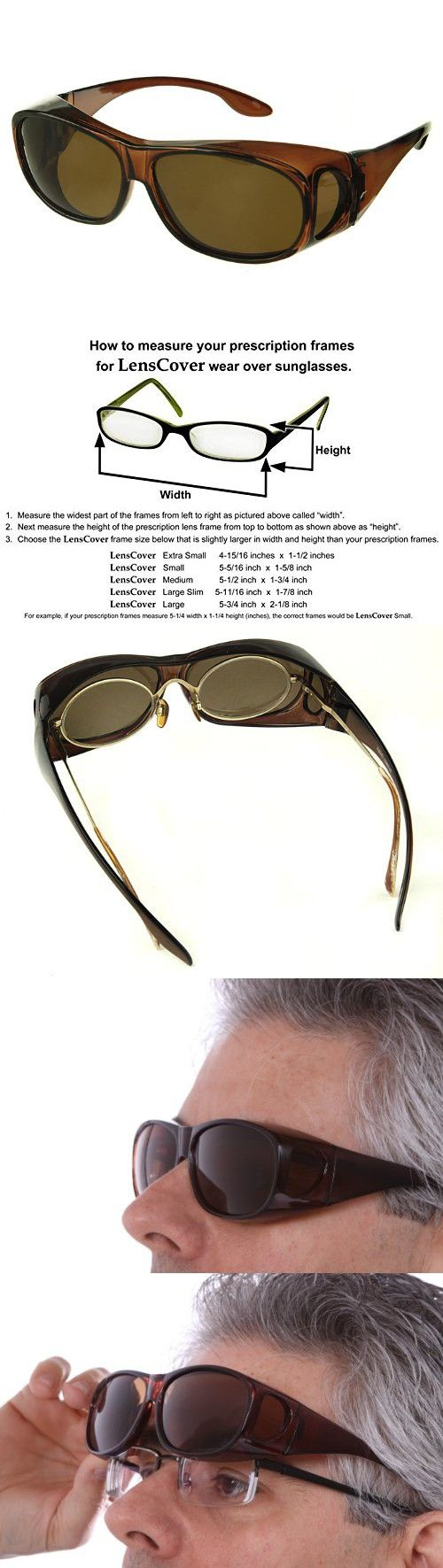 2143500faeee2 LensCovers Sunglasses Wear Over Prescription Glasses. Polarized Size Medium.