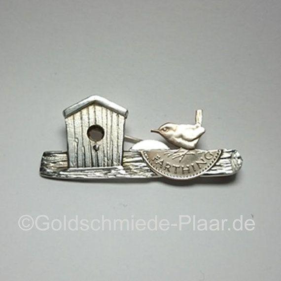 Brooch with Quarter Farthing  Brosche aus Silber 925/ mit Quarter Farthing von JoeplJewels