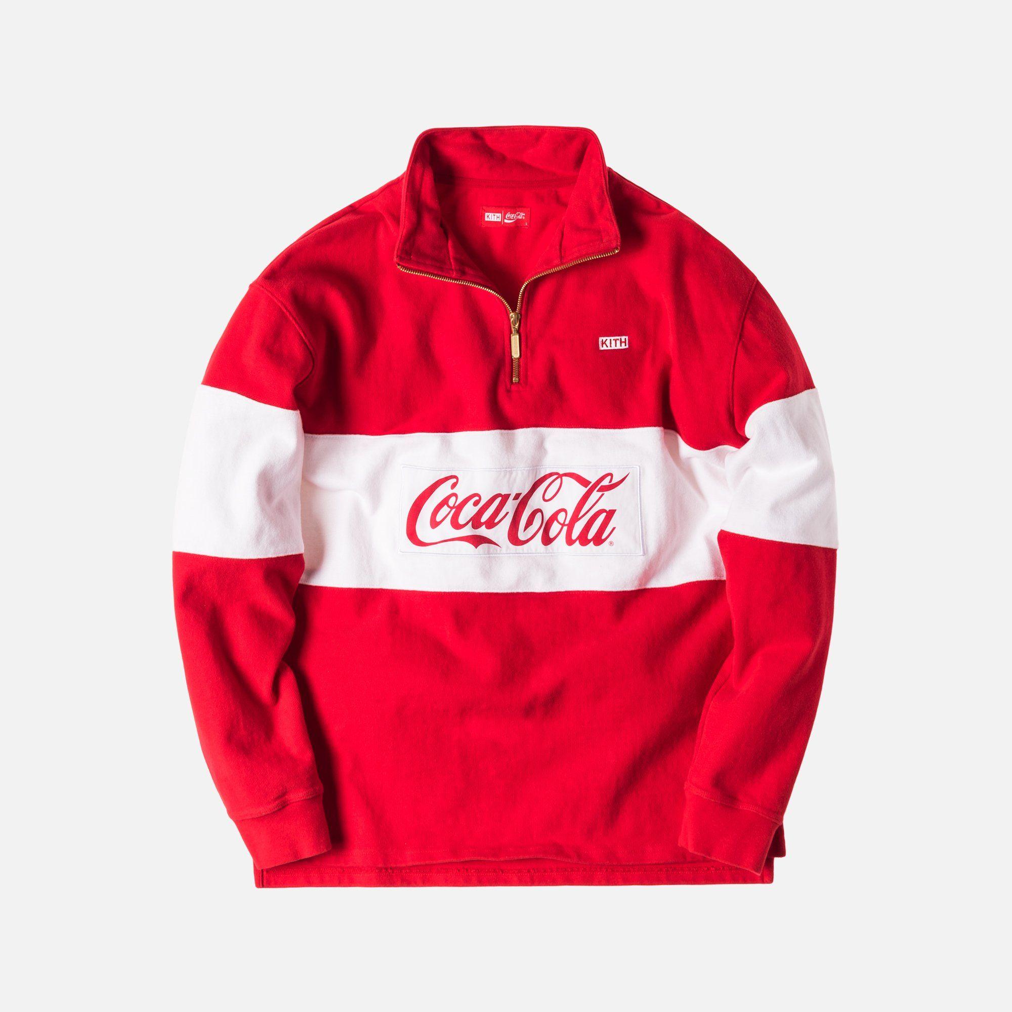 d6be88ff0459 Kith x Coca-Cola Half Zip Rugby - Red Half Zip Pullover