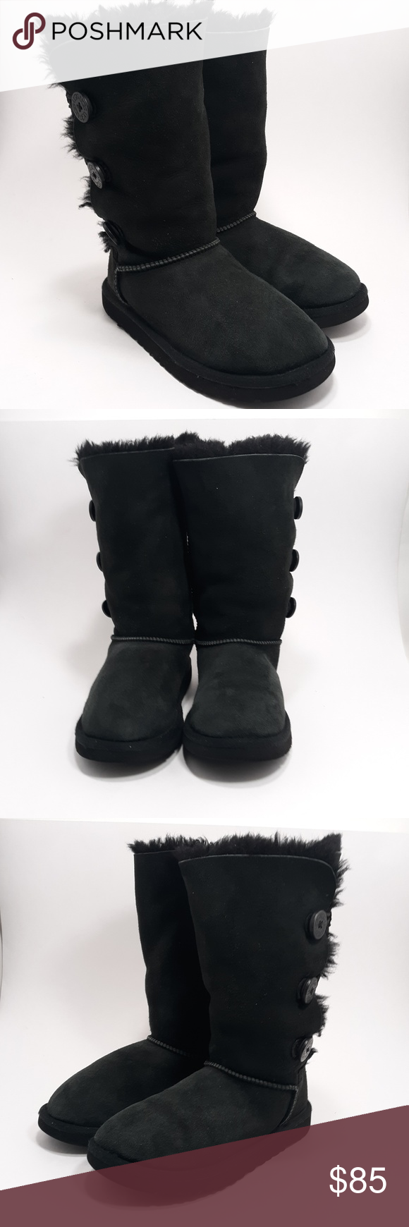 UGG Girls Black Bailey Triple Button Boots Size 2 Excellent Condition! Worn only a few times! Sorry no box, UGG Shoes Boots #uggbootsoutfitblackgirl UGG Girls Black Bailey Triple Button Boots Size 2 Excellent Condition! Worn only a few times! Sorry no box, UGG Shoes Boots #uggbootsoutfitblackgirl