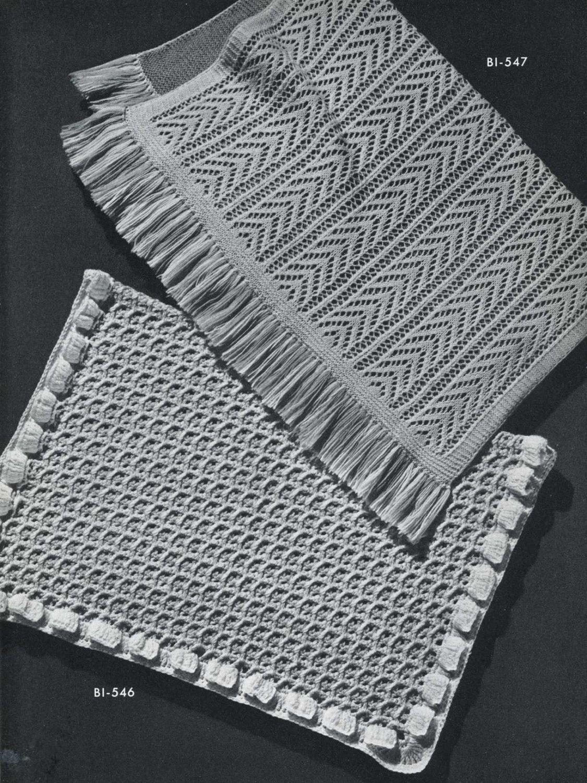 Vintage Knitting PATTERN B1 546 B1 547 Knit Baby by BlondiesSpot ...