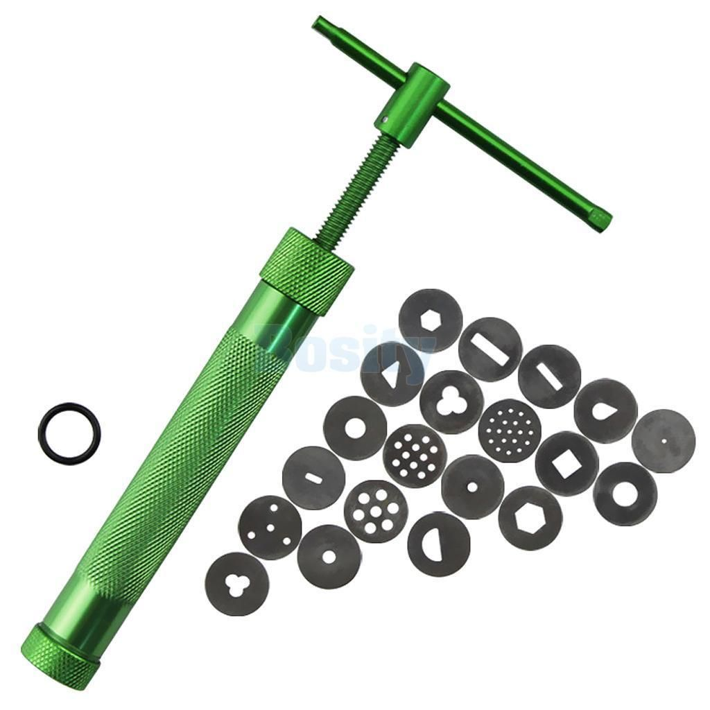Stainless Steel Green Crowded Mud Machine Polymer Clay Extruder Tools HOT.