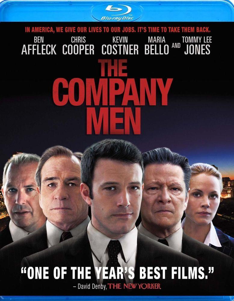 Blu-Ray The Company Men Affleck Cooper Costner Bello Jones All Star Cast Great