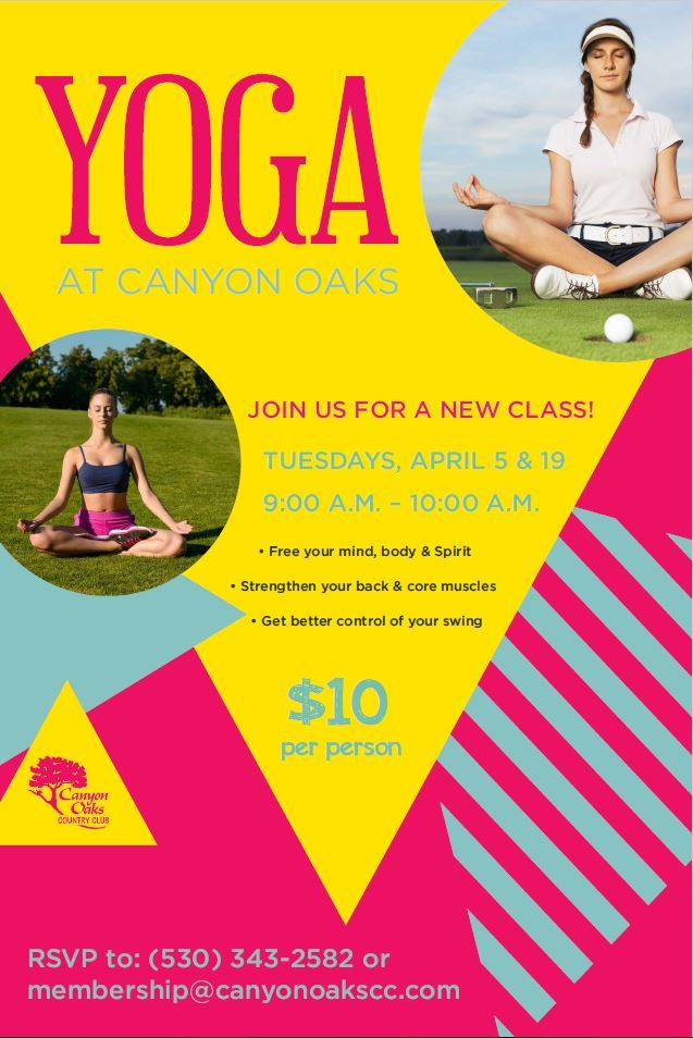 Yoga class event flyer poster template | Fitness Events ...