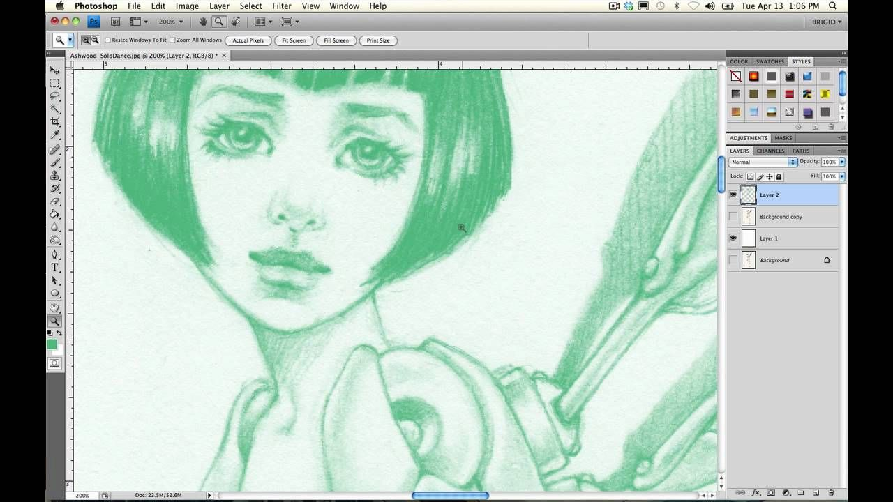 Fantastic tutorial on changing colours of line work select fantastic tutorial on changing colours of line work select color line art photoshop line drawingspencil drawingsdigital painting baditri Image collections