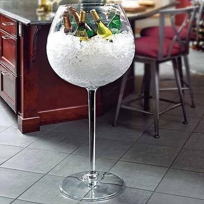 Giant wine glass cooler