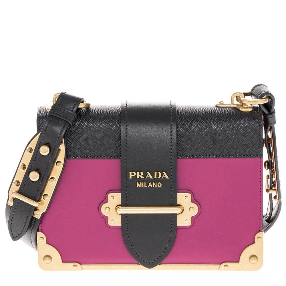 494d459bdf99 Prada Women s Cahier Leather Bag Pink  PRADA  Shoulderbag