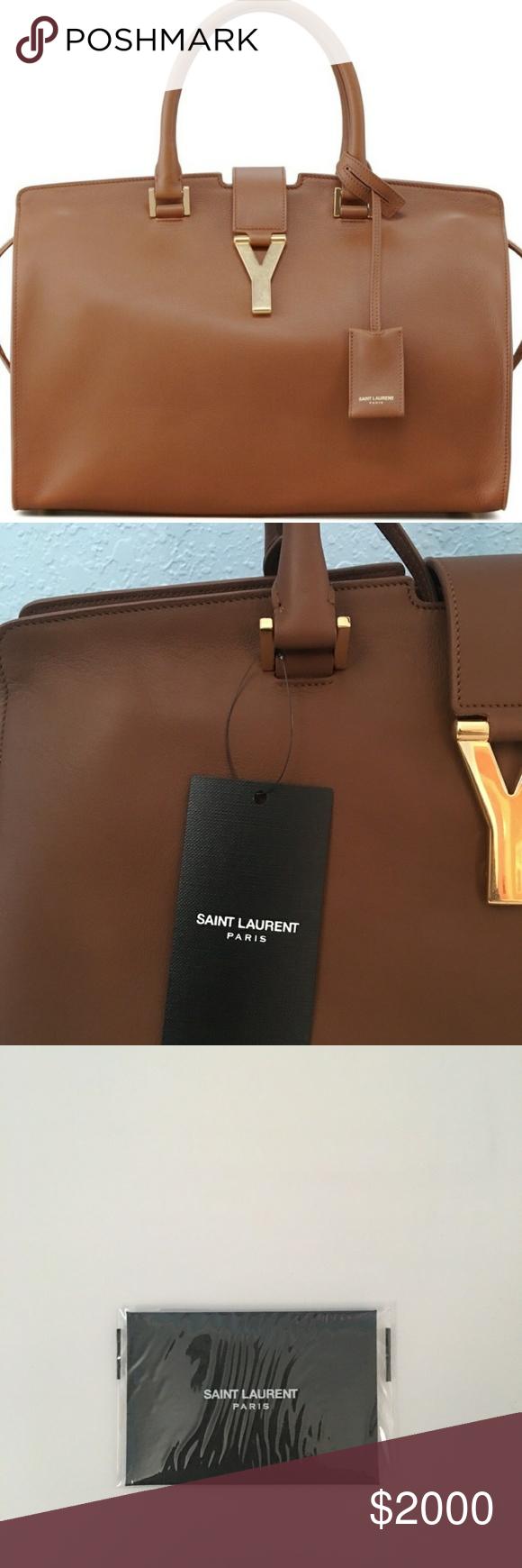 db8c0df36d Authentic Yves Saint Laurent Classic Y Cabas Bag Tubular Top Handle Bag  Yves Saint Laurent Bags Satchels