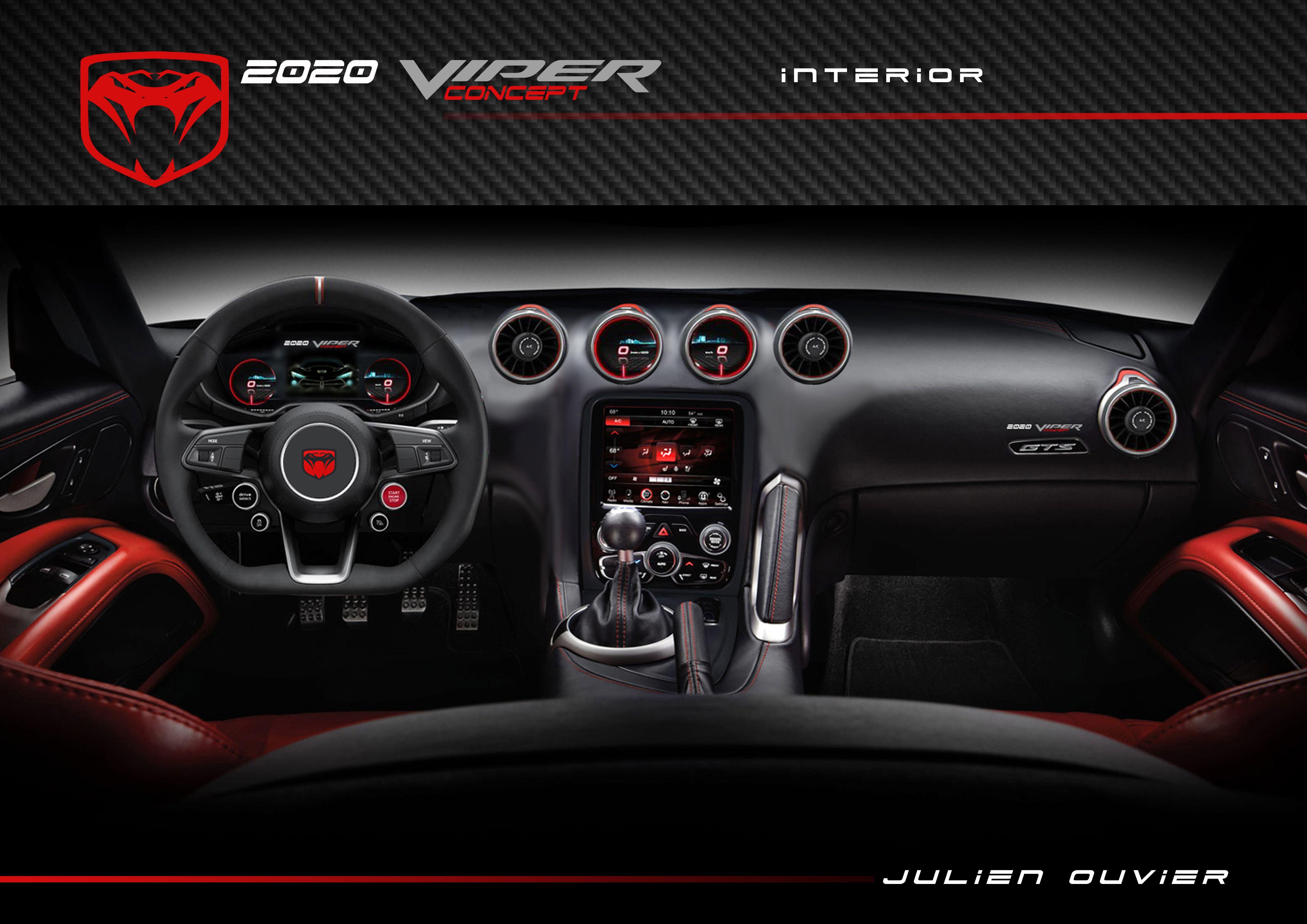 2020 Viper Concept Interior By Julien Ouvier Copyrights Julien Ouvier 1968 Dodge Charger Automotive Design Concept Design