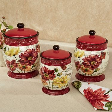 Genial Le Fleur Poppies Kitchen Canister Set Decor Pinterest