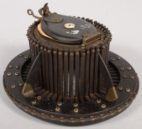 An Intriguing Hat Measurer A Milliner Could Place This Apparatus Inside A Client S Hat And By Operating The Scisso Antique Collection Vintage Tools Heroic Age
