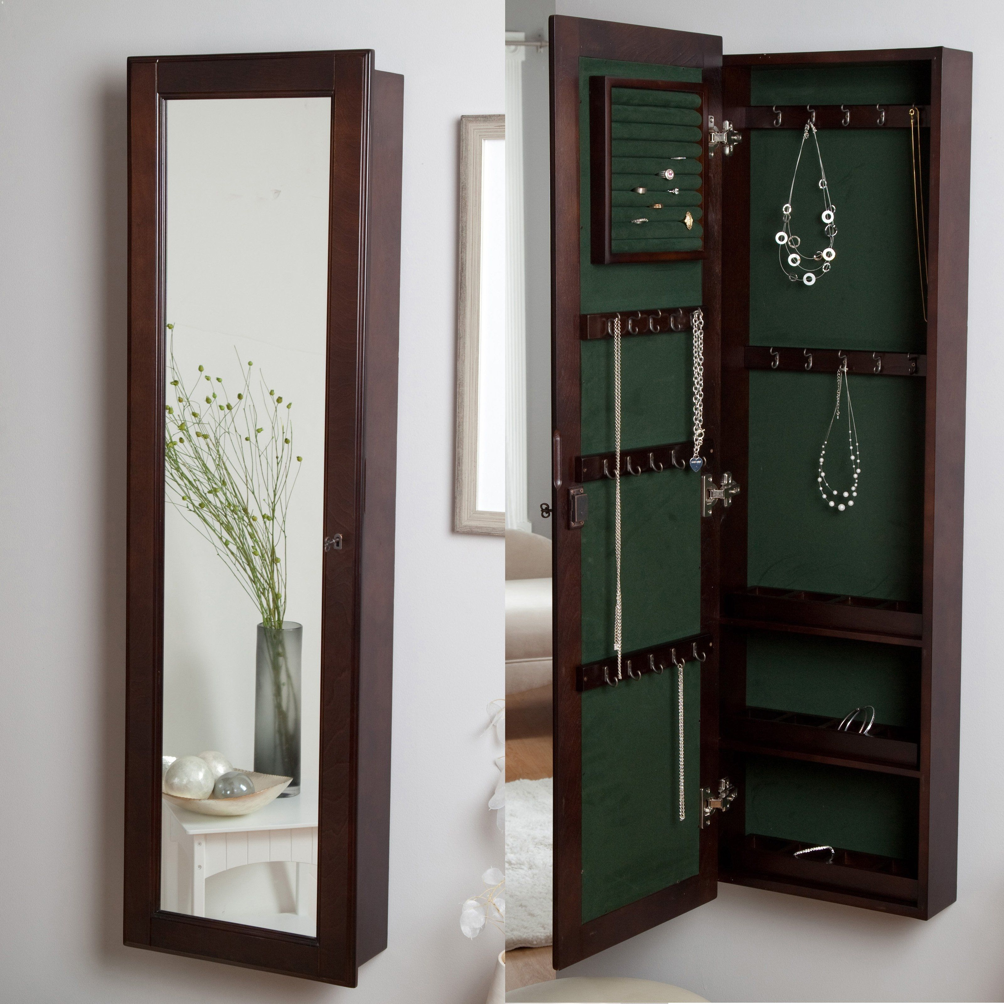Hang Mirror On Plasterboard Wall   Jewelry armoire, Wall ...