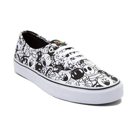 4a25f83399 Take a walk on the dark side of gamer style with the new Authentic Super  Mario Villains Skate Shoe by Vans. These wicked Vans Super Mario Villains  Skate ...
