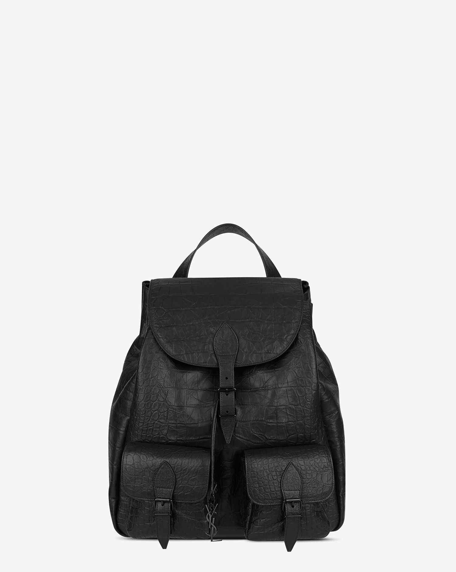 68f0e25a061 Saint Laurent FESTIVAL Backpack In Black Crocodile Embossed Leather | YSL .com