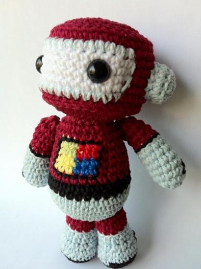 Robot amigurumi, ¡amigo de R2D2! | Amigurumi | Pinterest | Roboter ...