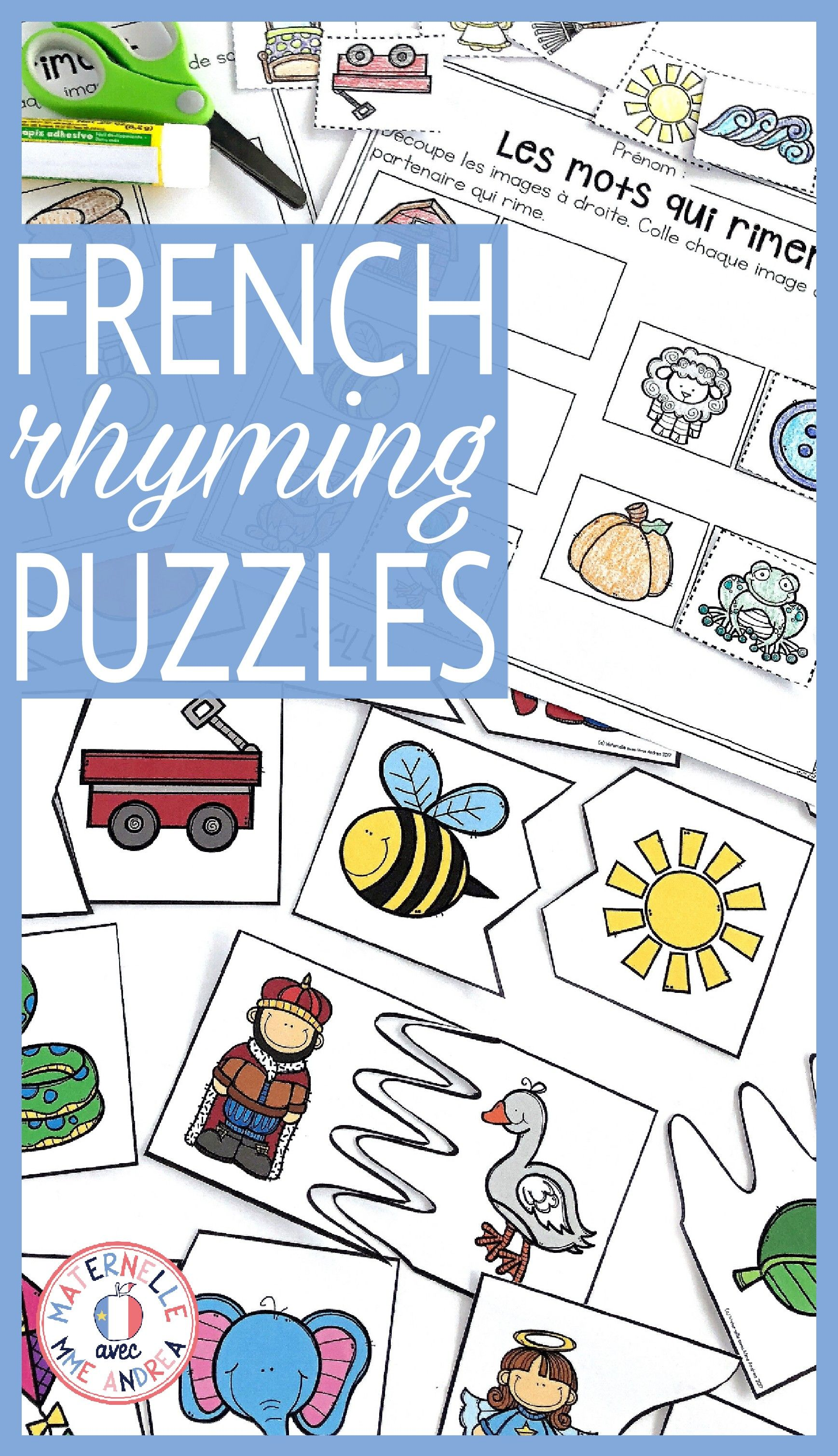 These French Rhyming Puzzles Are A Great Way To Get Your