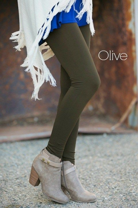 Slimming High Waisted Fleece Leggings! 8 Colors!