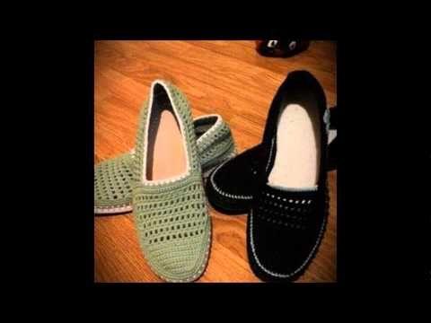Zapato para estar en la casa tejido a crochet faciles - YouTube ...
