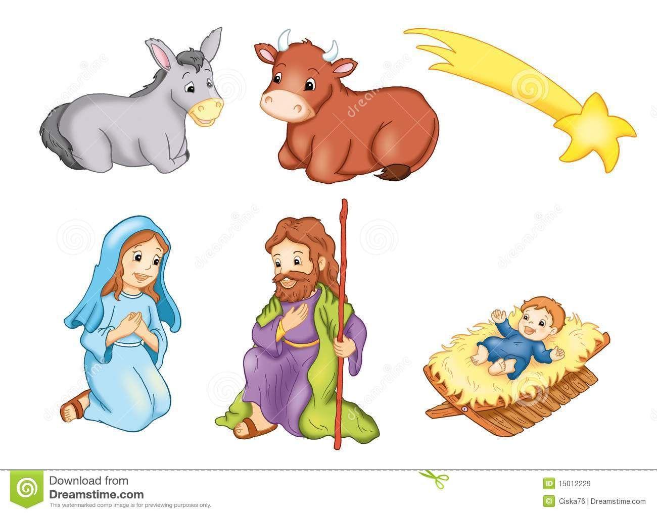 Resultado de imagen para imagenes de la mula y el buey - Figuras belen infantil ...