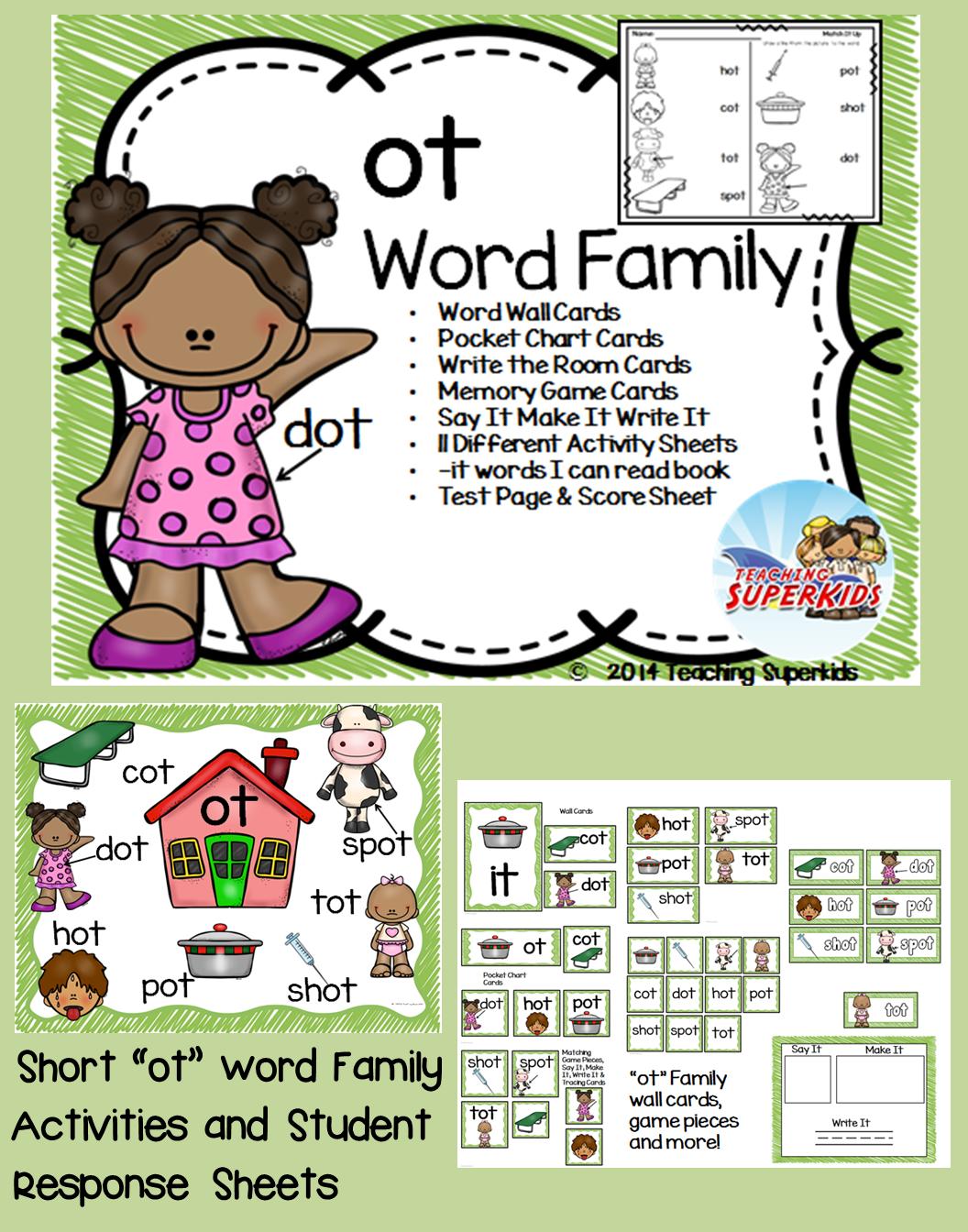 Ot Word Family Centers
