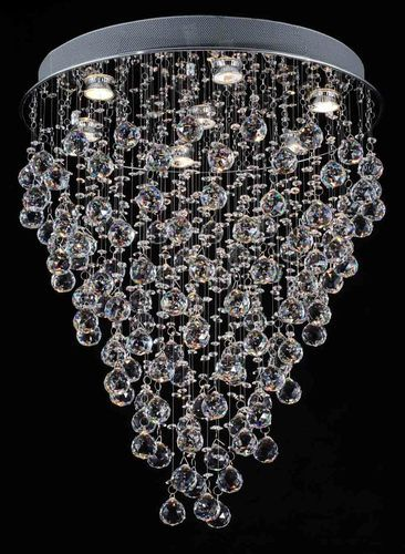 Modern Chandelier Rain Drop Chandeliers Lighting With Crystal Balls