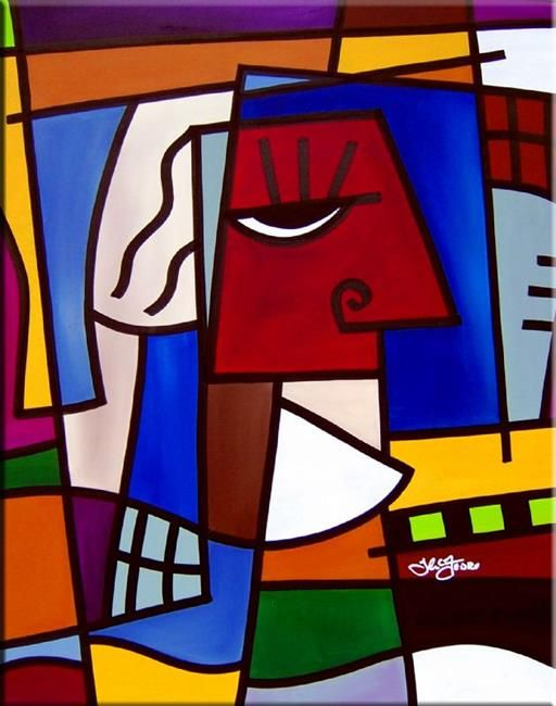 Art: Head Games - Cubist 18 by Artist Thomas C. Fedro | Abstracto ...