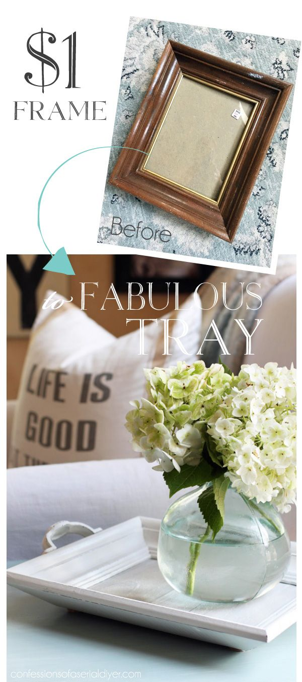 Bright vases trays dishes aroma lamps mirrors in beautiful frames - How To Make A White Washed Reclaimed Wood Tray From An Old Tray And Discarded