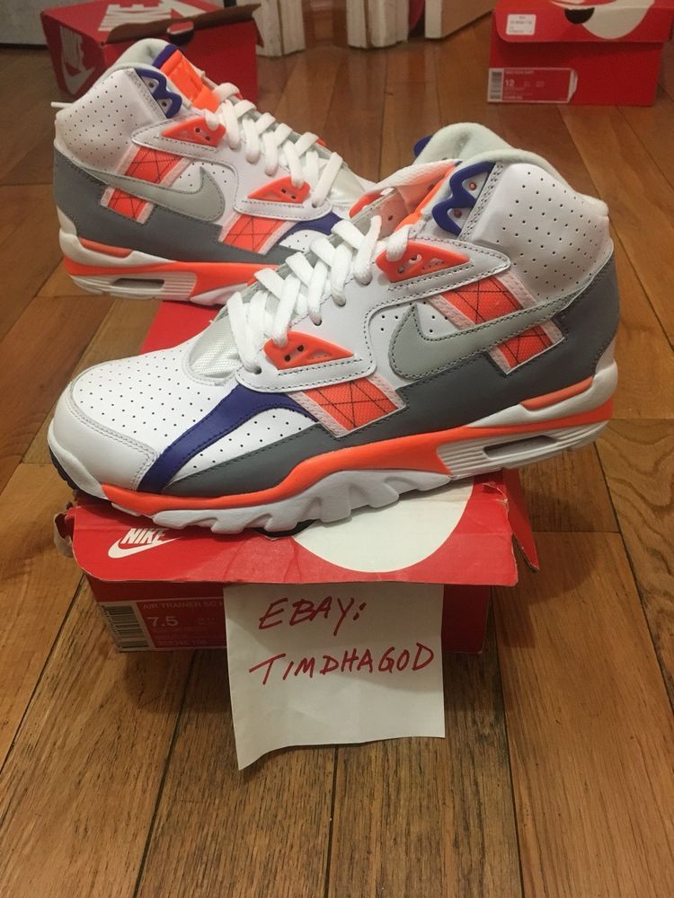 DS2017 Nike Air Trainer SC High QS Auburn Bo Jackson Size 7.5. 302346-106 a70a8a845