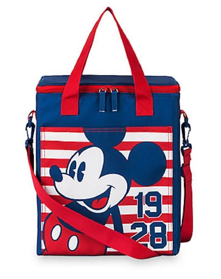 cf563488047 Disney Store Mickey Mouse Americana Vertical Insulated Cooler Tote bag -  NWT  Disney