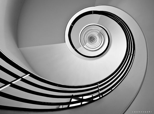 Striking Architectural Photos Shot From The Perfect Angle Stairs Staircase Design Spiral