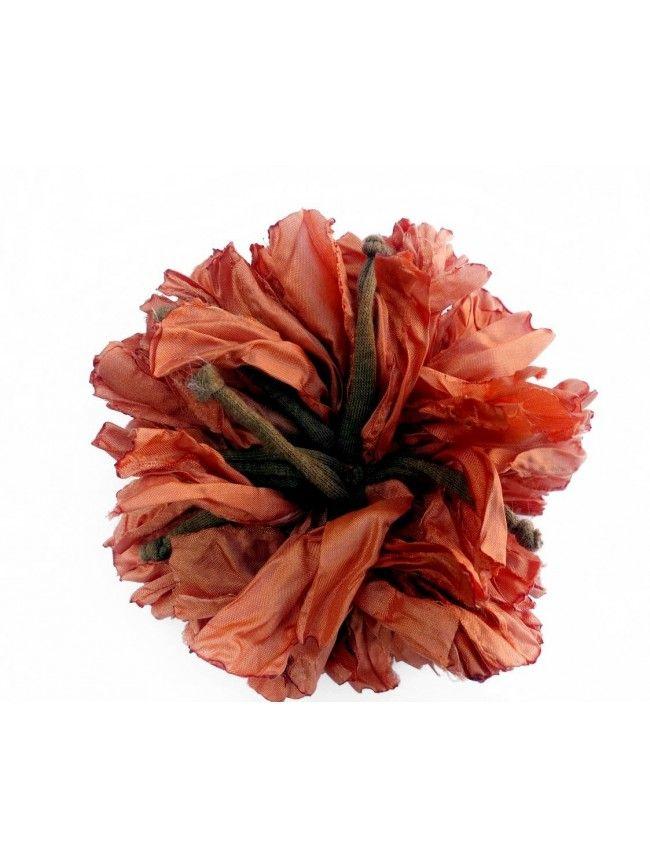 Broche flor pavo