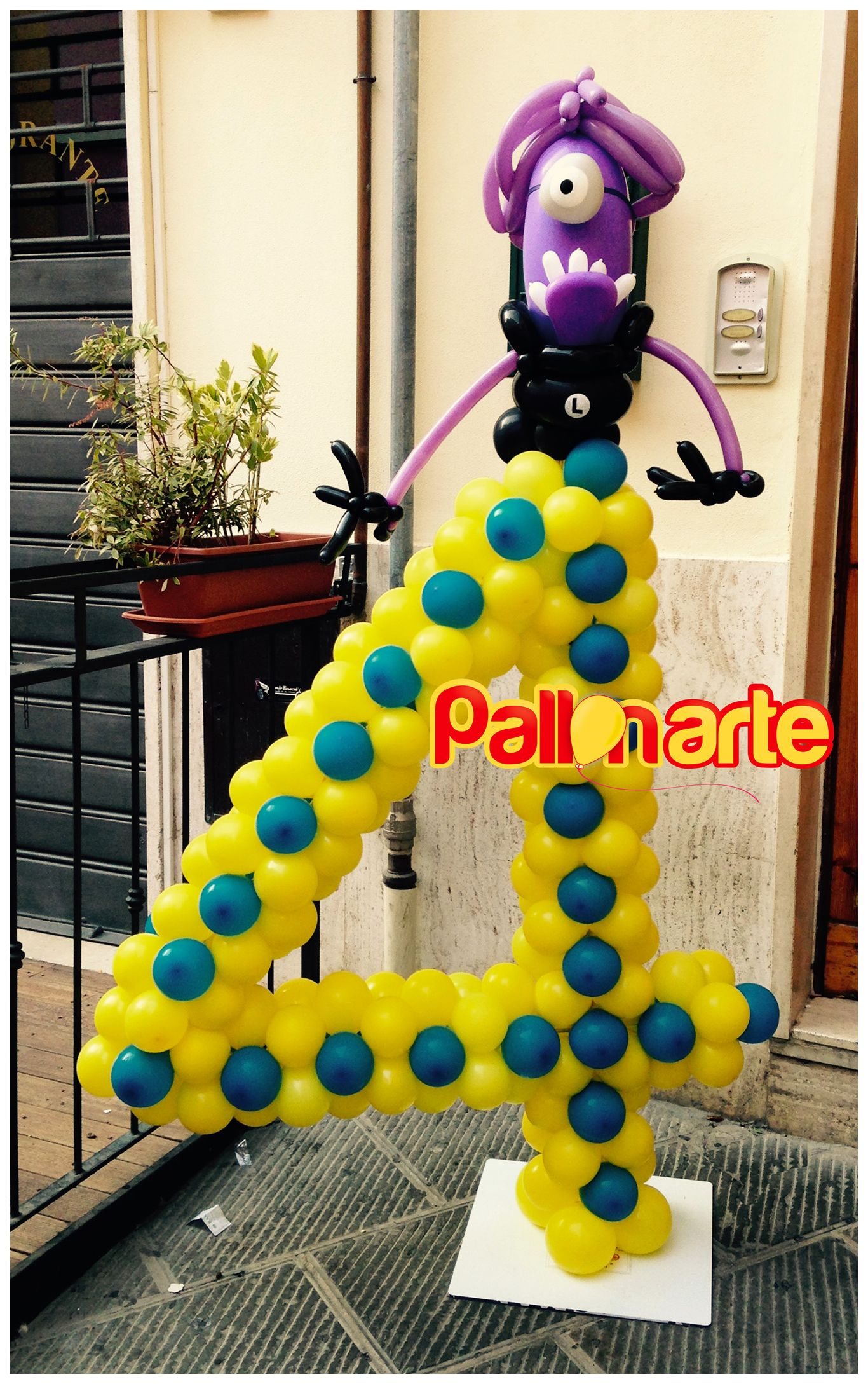 number 4 balloons decorations despicable me minions numero con ...
