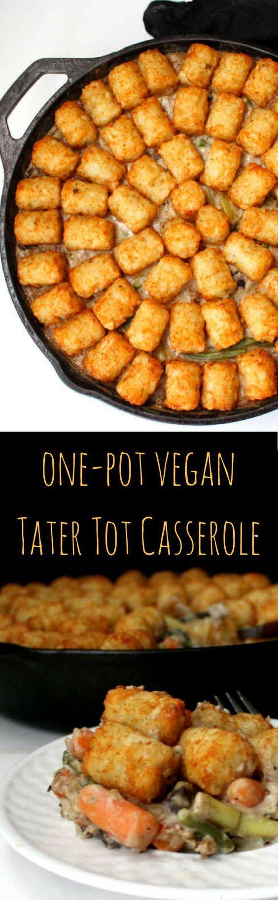 One Pot Vegan Tater Tot Casserole