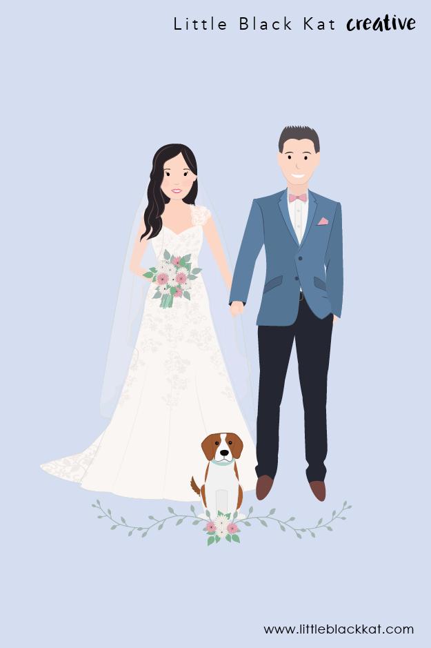 Custom Wedding Portrait Drawing Personalised Wedding Gift First Wedding Anniversary Gift Wedding Keepsake Bride And Groom Illustration Wedding Portraits Wedding Day Cards Personalized Wedding Gifts