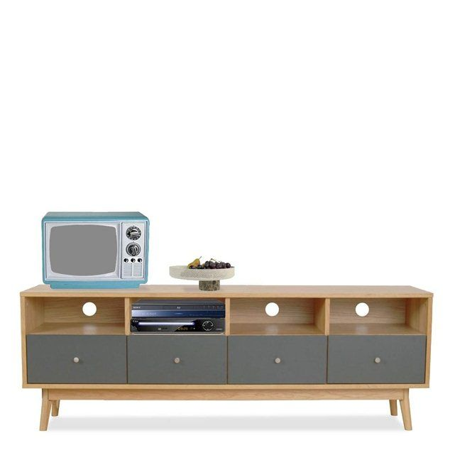 meuble tv design scandinave 4 tiroirs skoll console. Black Bedroom Furniture Sets. Home Design Ideas